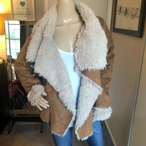 Faux Shearling Retro 70s Coat